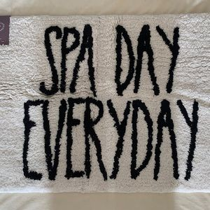 Rae Dunn Spa Day Every Day Mat - NWT